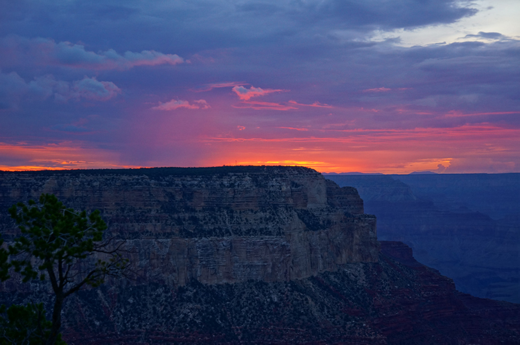 Yavapai Grand Canyon National Park Sunset USA Etats Unis