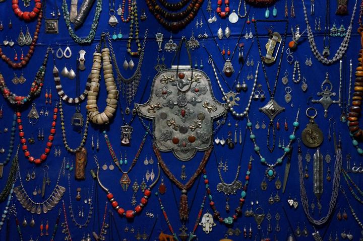 Marrakech Souk Medina Bijoux Argent Maroc