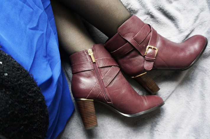 Fascination André Bottines boots bordeaux