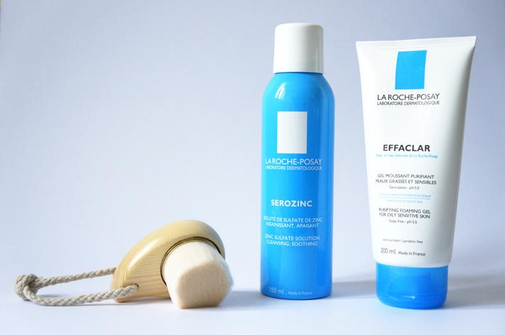 Routine pureté peau contre acné - La Roche Posay Effaclar Serozink Brosse visage dupe Tosowoong avis