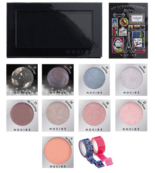 Je crée ma Palette Nocibe fards blush make up