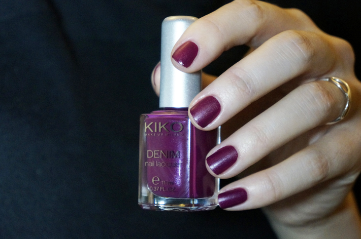 Kiko Denim Nailpolish vernis 462 Tribal Purple swatch Boulevard Rock