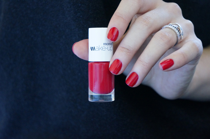 Vernis Monop Make-Up Monoprix avis test swatch Rouge Grenade 15