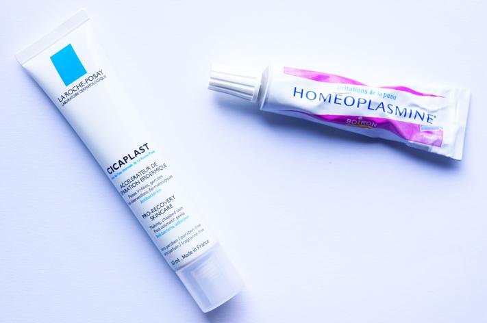 Crème cicatrisante Cicaplast La Roche Posay - Homeoplasmine Boiron Irritations - test avis