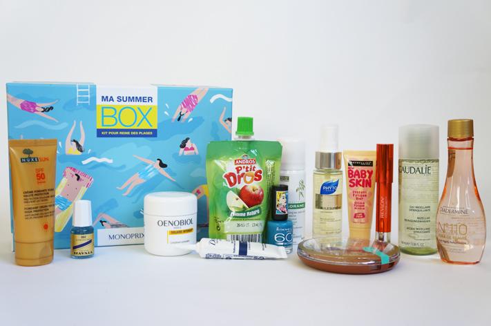 Summer Box Monoprix produits