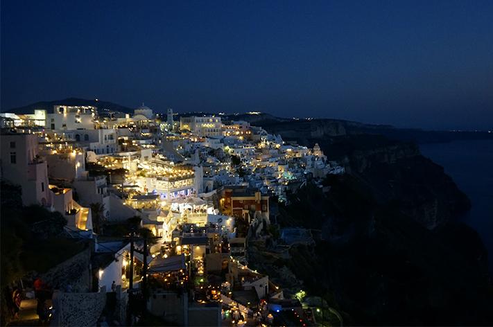 Santorin Santorini Grèce Voyage avis - Fira by night