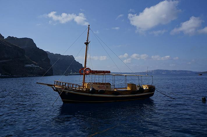 Santorini Grèce Voyage avis - bateau