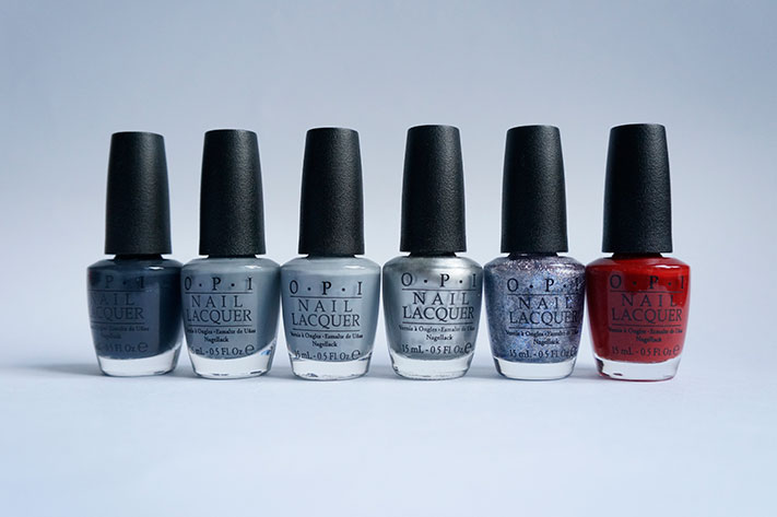 OPI Fifty shades of Grey collection swatch