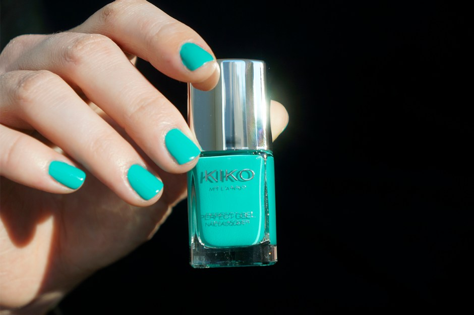 Kiko perfect gel duo - spring green 678 swatch avis