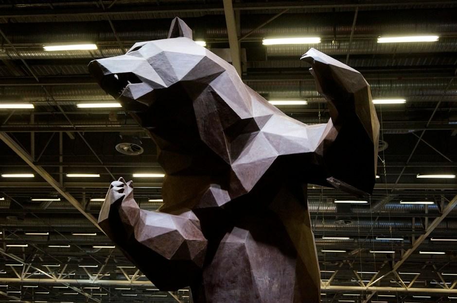 Salon du Chocolat sculpture ours Wild Choco Bear Richard Orlinski 2015