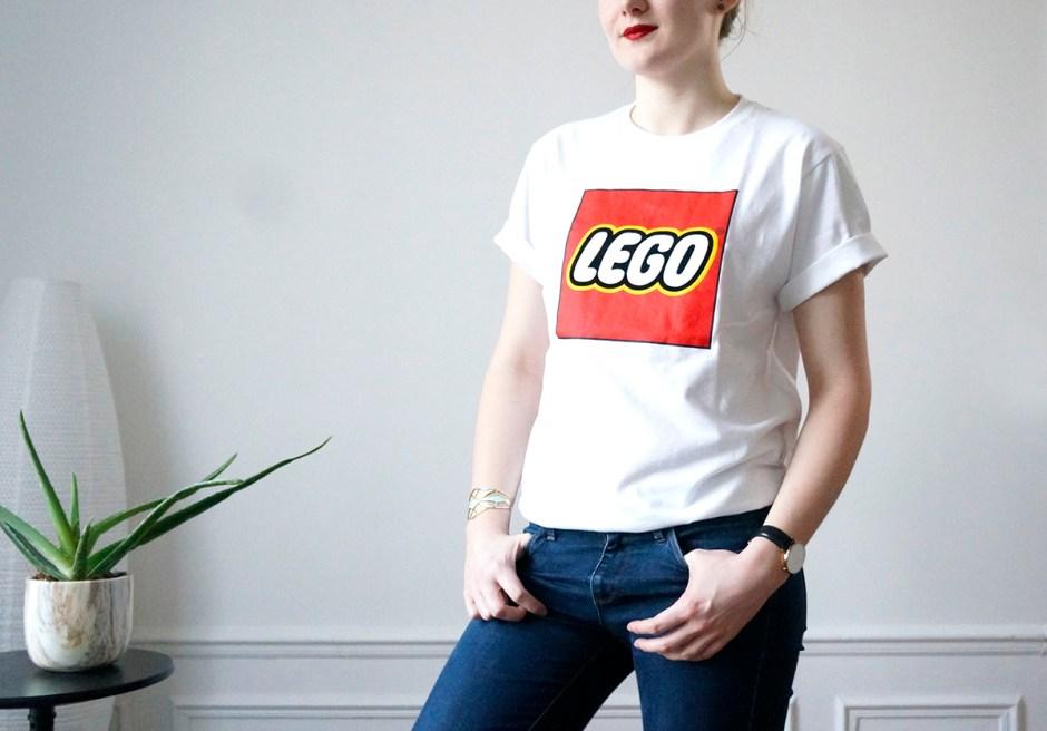 Tshirt Lego Uniqlo logo