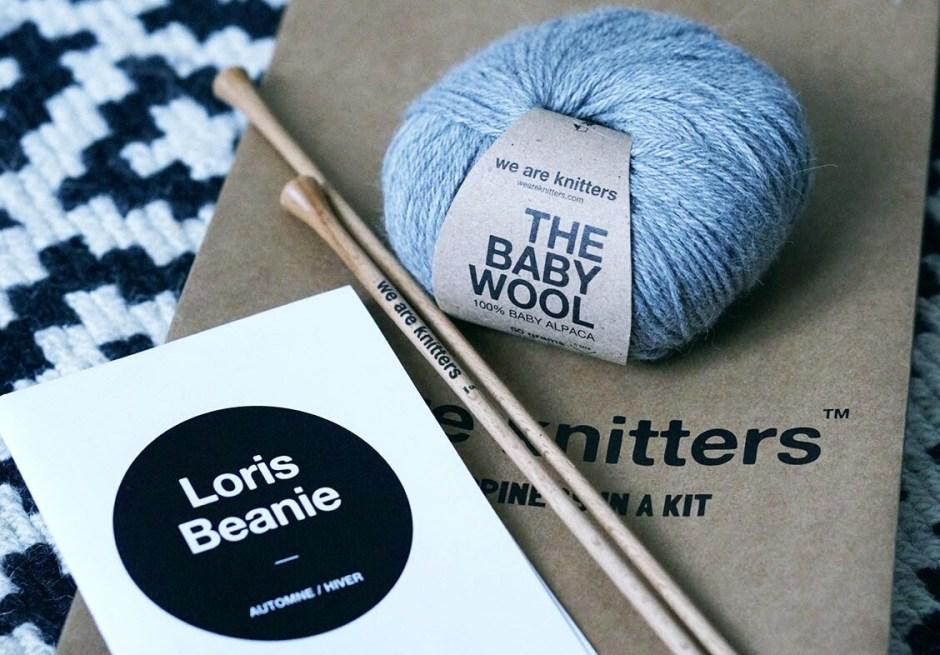 Bonnet we are knitters WAK bebe Loris Beanie kit tricot