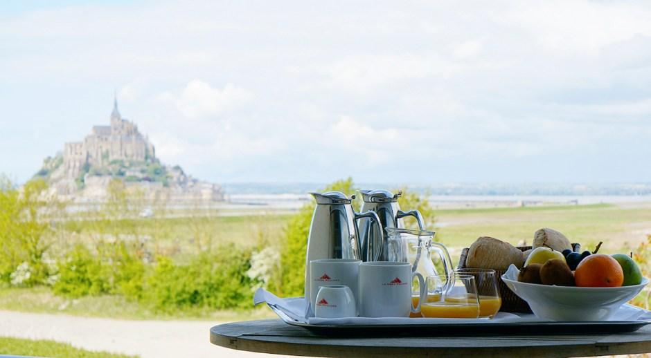 Le Relais Saint-Michel vue Mont Saint Michel grande maree mere poulard avis sejour