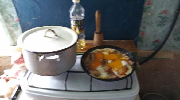 Samke pork and eggs