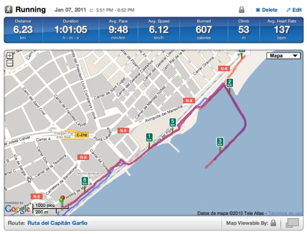 Ruta de running por Mataró