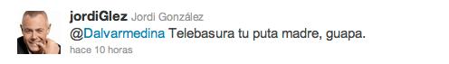 Jordi Gonzalez la lía en twitter