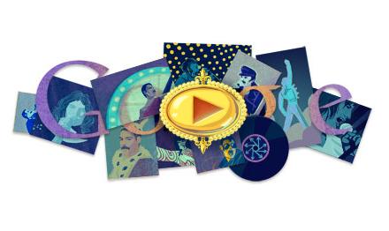 Google dedica el mejor doodle a Freddie Mercury