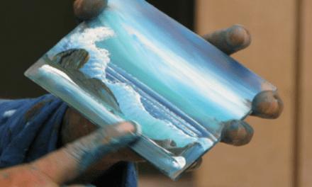 Impresionante pintor callejero que solo usa sus dedos