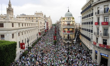 15J Yo Voy Betis: Manifestación en Barcelona