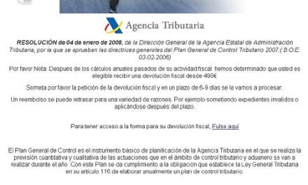 Phising de la Agencia Tributaria
