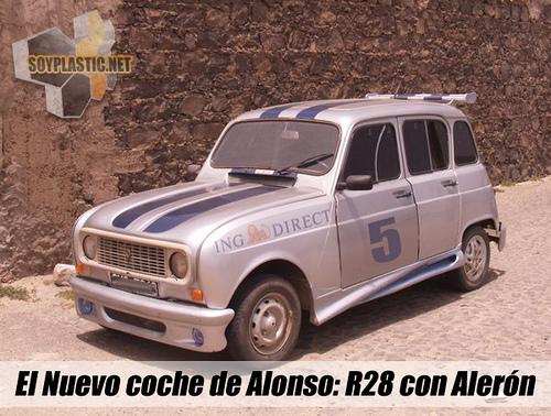 Alonso ahora si tiene coche