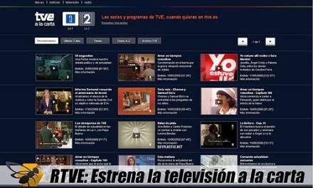 RTVE estrena su servicio de TV a la carta