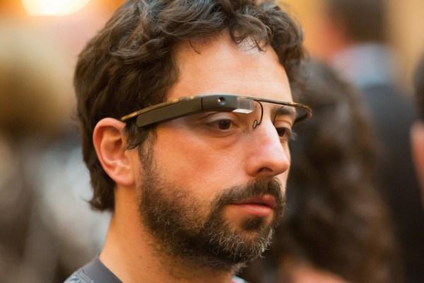 Sergei Brin llevando unas Google Glasses