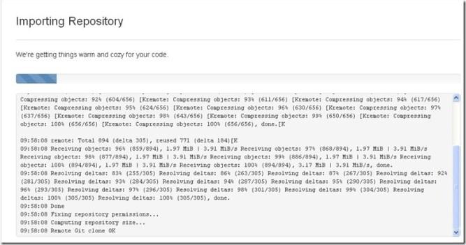 Importing repository — Bitbucket - Google Chrome