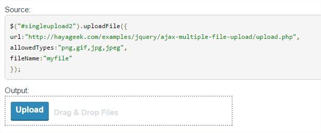 jQuery Upload File Plugin Demo - Opera