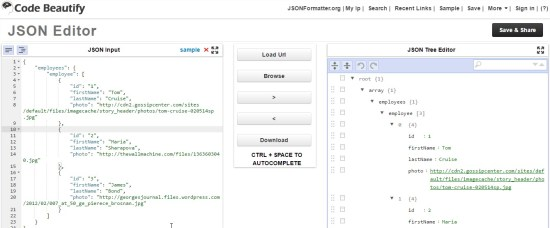 Best Online JSON Editor to edit JSON online, Save and Share - Opera