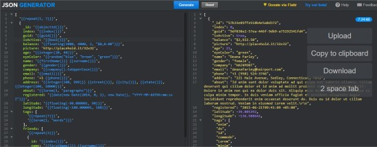 JSON Generator – Tool for generating random data - Opera