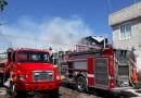 Arde casa en la colonia Valle de San Pedro