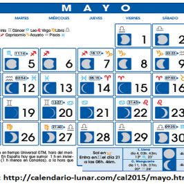"""""""tránsito lunar del mes de mayo"""""""
