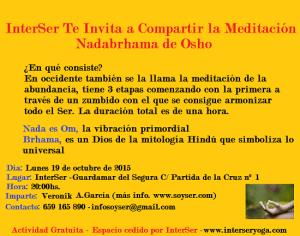 """Meditación Nadabrhama de Osho en Guardamar"""