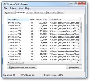 El navegador Chrome tiene un largo historial de consumo indiscriminado de memoria, aún sin Flash activo.