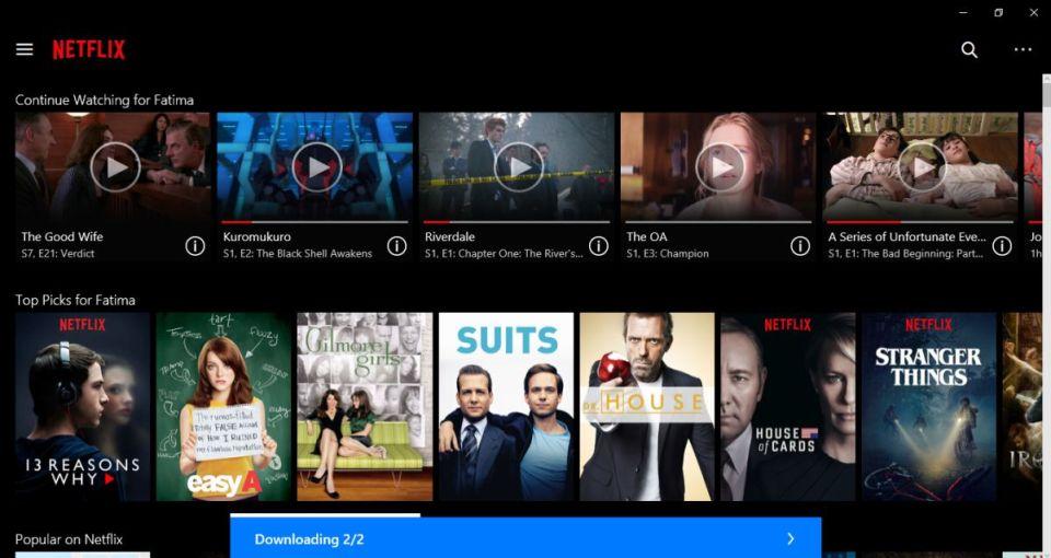 netflix windows 10 2