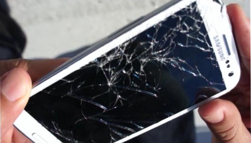 pantalla de celulares rotas