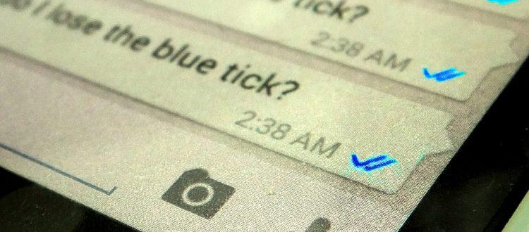 WhatsApp tildes azules