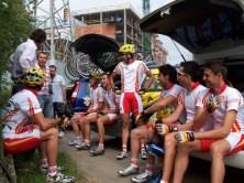 Año 2005. Oviedo TV en la Vuelta a Asturias
