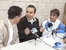 Año 2004. Retransmisión con los ciclistas Ricardo Valdés y Carlos Barredo en Oviedo TV