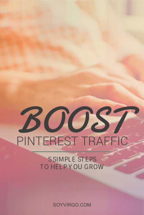 pinterest traffic soyvirgo.com