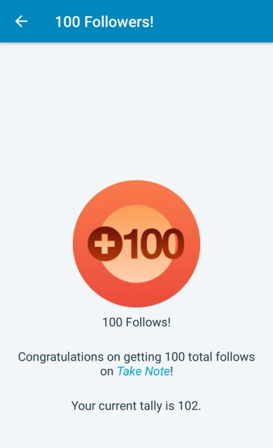 100 followers on soyvirgo.com