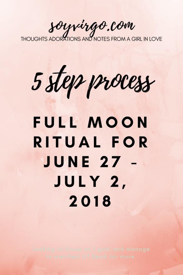 New Moon Ritual soyvirgo.com