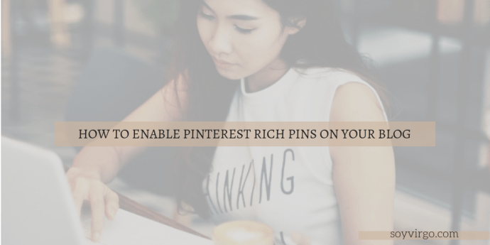 how to enable rich pins on your blog