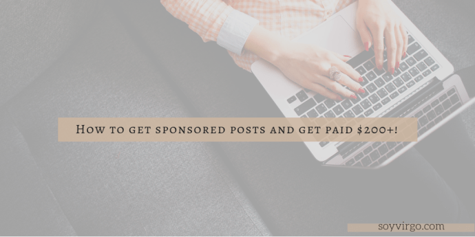 get sponsored posts and get paid!