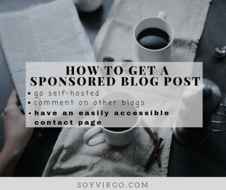sponsored blog post opportunities