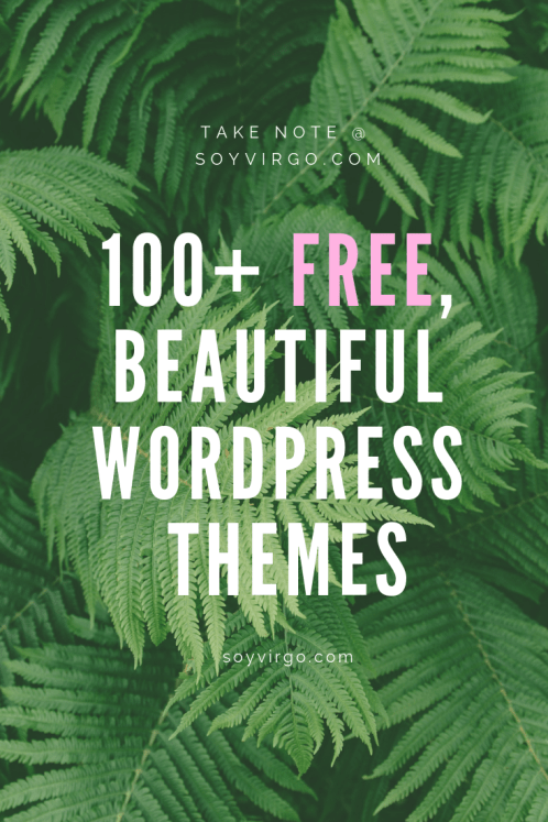 100 free beautiful minimal wordpress themes for bloggers - soyvirgo.com