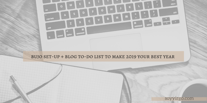 2019 to do list and bujo set up soyvirgo.com cover image