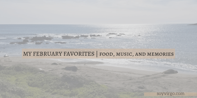 February favorites soyvirgo.com header