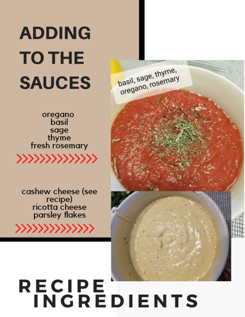 vegan lasagnsa cheese and marinara sauce recipe | soyvirgo.com